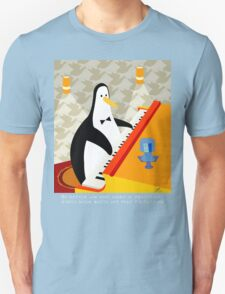 Eddie Penguin on black T-Shirt