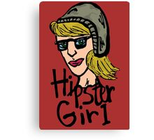 Hipster girl icon Canvas Print