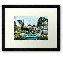 Italian Gardens - Portmeirion Village Framed Print