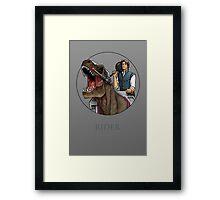 Rider - Flynn Rider x Dino-Riders Framed Print