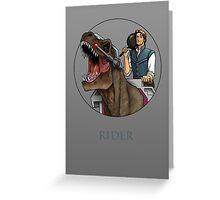 Rider - Flynn Rider x Dino-Riders Greeting Card
