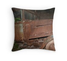 Rusty Car Throw Pillow