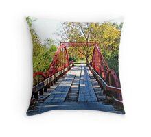 Red Bridge Throw Pillow