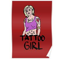 Tattoo girl Poster