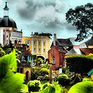 Portmeirion Village Through the Gardens by Angela Harburn