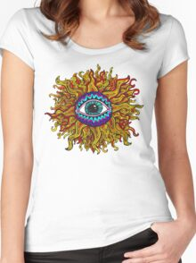 Psychedelic Sunflower - Just the flower Women's Fitted Scoop T-Shirt
