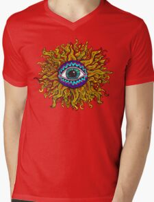 Psychedelic Sunflower - Just the flower Mens V-Neck T-Shirt