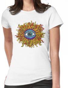 Psychedelic Sunflower - Just the flower Womens Fitted T-Shirt
