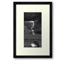 Get Out Of The Water! Framed Print