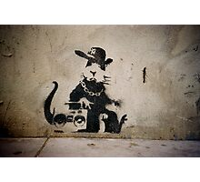 Gangsta Rat Photographic Print