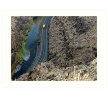 Looking down into picture Gorge Eastern Oregon Art Print