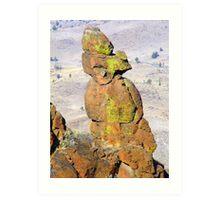 Rock Statute Art Print