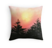 FOGGY SUNRISE Throw Pillow