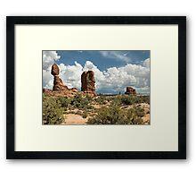 Balancing Rock, Arches National Park Framed Print