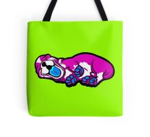 Sleepy Puppy Shocking Pink and Blue Tote Bag