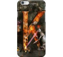 Steampunk - Alphabet - K is for Killer Robots iPhone Case/Skin