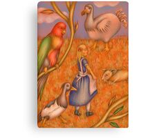 Alice and the animals Canvas Print