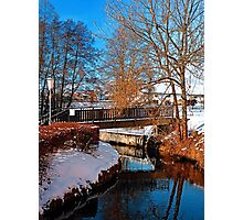 Bridge and river in winter scenery | architectural photography Photographic Print