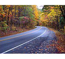 Autumn Scenic Road Photographic Print