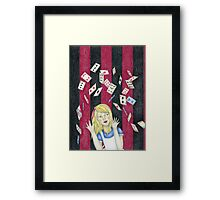 Alice and the pack of cards Framed Print