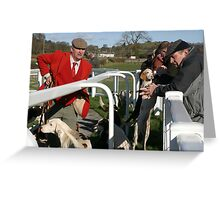 After the ban - Lunesdale Hunt members and supporters at Cartmel Greeting Card