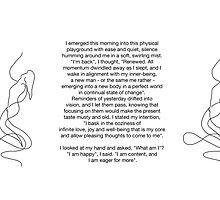 Emerge Mug & Affirmation  by Richard G   Witham