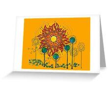 A World Apart Orange Greeting Card