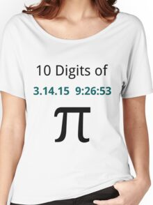 10 Digits of Pi - White Geek T-Shirt for Pi Day 2015  Women's Relaxed Fit T-Shirt