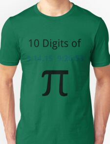 10 Digits of Pi - White Geek T-Shirt for Pi Day 2015  Unisex T-Shirt