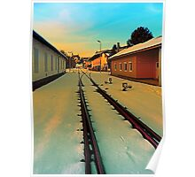 The railway station of Aigen | architectural photography Poster