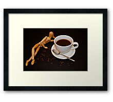 Relaxing Cup Of Coffee Framed Print