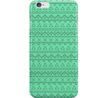 Hipster Line Pattern Green iPhone Case/Skin