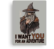 I WANT YOU FOR AN ADVENTURE Canvas Print
