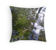 Watery Green Throw Pillow