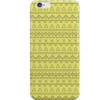 Hipster Line Pattern Yellow iPhone Case/Skin