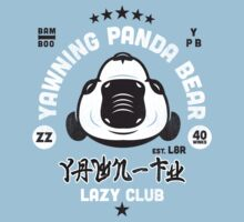 Lazy Club - Yawning Panda Bear by SevenHundred