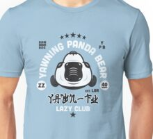 Lazy Club - Yawning Panda Bear Unisex T-Shirt