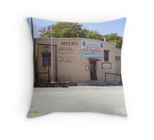 best place to get hamburgers in meers Throw Pillow