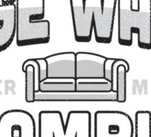 Lazy Club - Binge Watch Champion Sticker