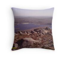 the lake from on top of mount scott Throw Pillow