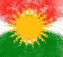 Kurdistan Flag by Masoud Ahmed
