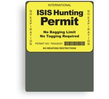 Hunting Permit Canvas Print
