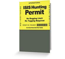 Hunting Permit Greeting Card