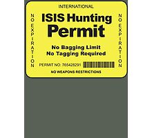 Hunting Permit Photographic Print