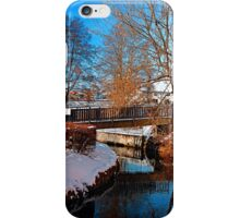 Bridge and river in winter scenery | architectural photography iPhone Case/Skin