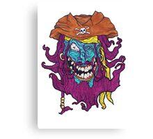 Purple Bearded Pirate  Canvas Print