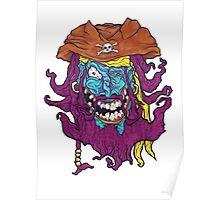 Purple Bearded Pirate  Poster