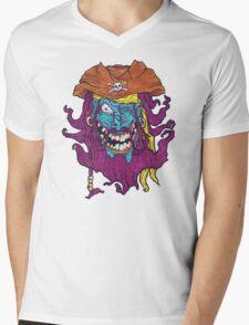 Purple Bearded Pirate  Mens V-Neck T-Shirt