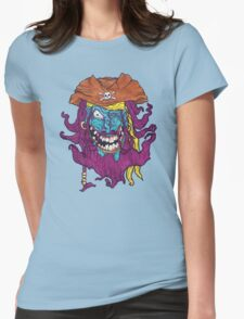Purple Bearded Pirate  Womens Fitted T-Shirt
