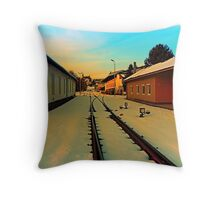 The railway station of Aigen | architectural photography Throw Pillow